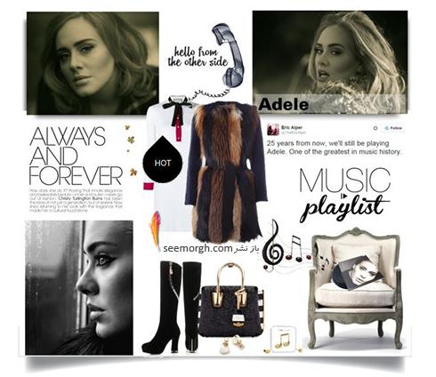 ست کردن لباس زمستاني به سبک ادل Adele - عکس شماره 11