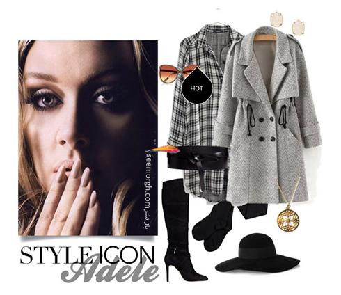 ست کردن لباس زمستاني به سبک ادل Adele - عکس شماره 5