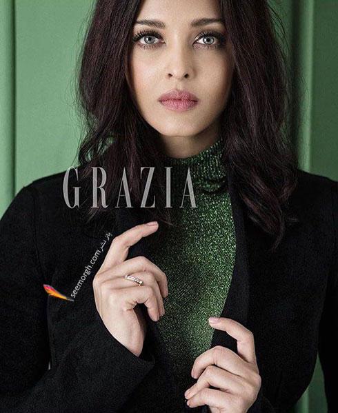 عکس های آیشواریا رای Aishwarya Rai روی مجله مد Grazia - عکس شماره 2