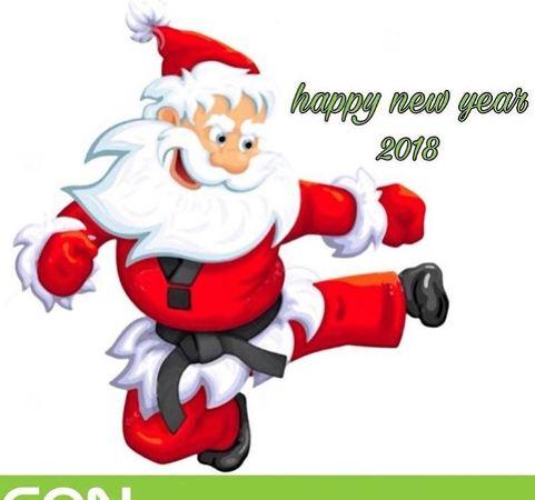 تبریک کریسمس توسط کیمیا علیزاده با بابانوئل تکواندو کار