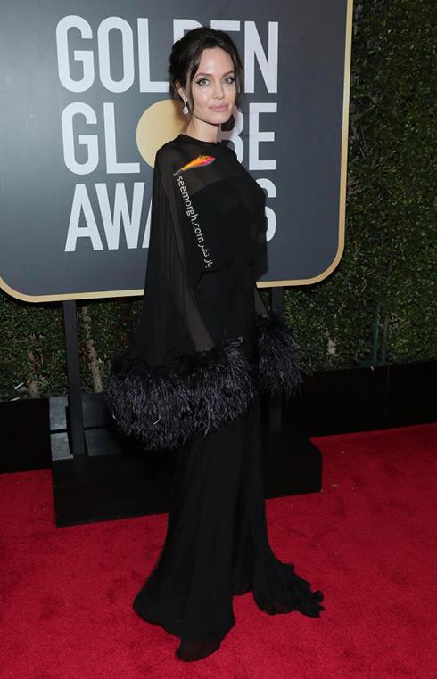 آنجلينا جولي در مراسم فرش قرمز گلدن گلوب 2018