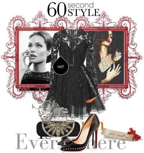 ست کردن لباس شب به سبک آنجلینا جولی Anjelina Jolie - عکس شماره 5