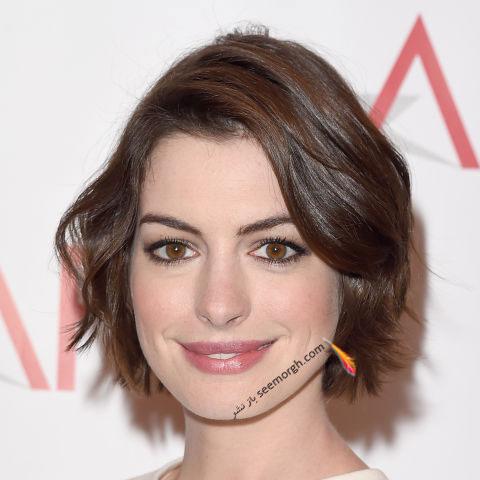 مدل مو به سبک آن هاتوی Anne Hathaway برای خانم های بالای 30 سال