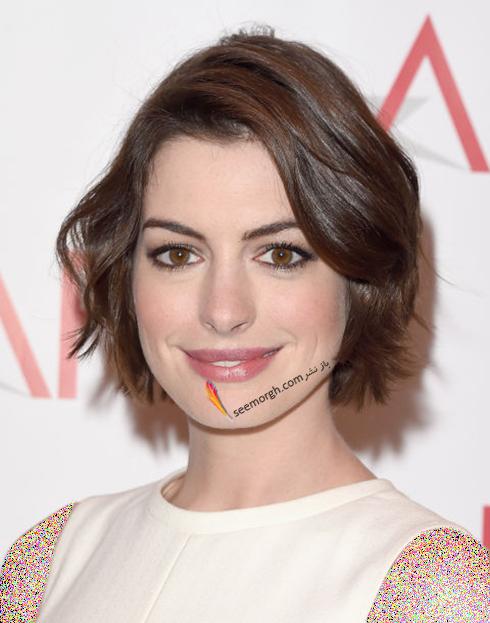 مدل مو کوتاه به سبک آن هاتوی Anne Hathaway برای خانم های زیر 30 سال