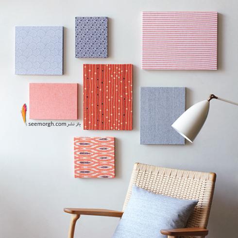 تزیین دیوار اتاق خواب با پارچه های رنگی,تزیین دیوار,ایده هایی برای تزیین دیوار,مدل های تزیین دیوار,