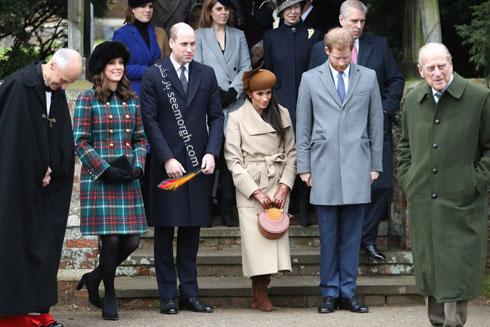 عکس پرنس هری و مگان مارکل Megan Markle و پرنس ویلیامز و کیت میدلتون Kate Middleton در روز کریسمس - عکس شماره 2
