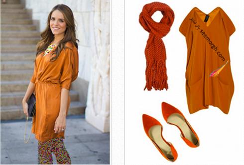 ست کردن لباس به رنگ نارنجی تیره برای پاییز 2017