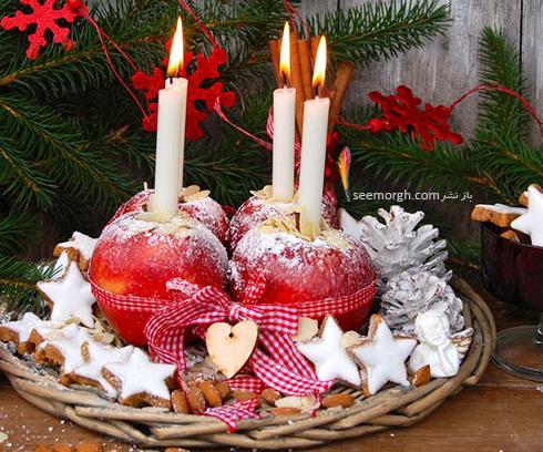 تزیین شمع برای شام شب یلدا با میوه های یلدایی - عکس شماره 10