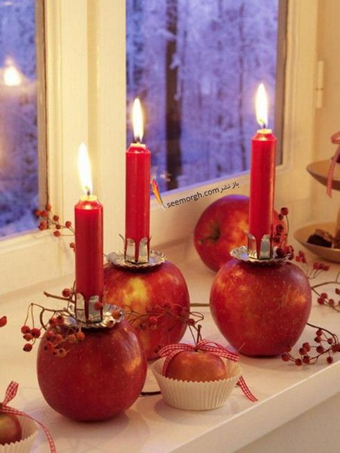 تزيين شمع براي شام شب يلدا با ميوه هاي يلدايي - عکس شماره 6
