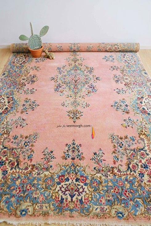 ست کردن فرش با مبلمان کرم قهوه اي - عکس شماره 4