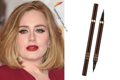 مدل آرایش چشم به سبک ادل Adele