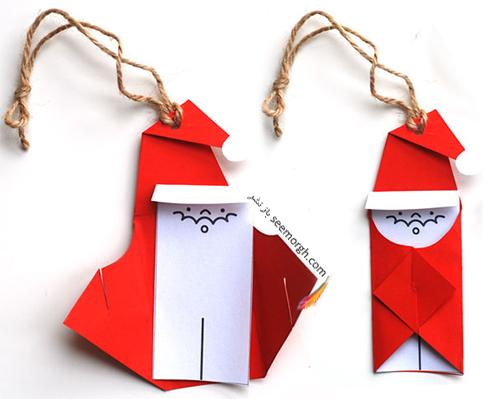 کریسمس,کادو کریسمس,تزیین کادو کریسمس,ایده هایی برای تزیین کادو کریسمس,مرحله دوم درست کردن بابانوئل برای تزیین درخت کریسمس