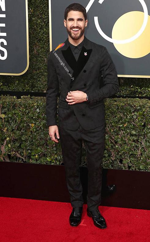 مدل کت و شلوار دارن کريس Darren Criss در مراسم گلدن گلوب 2018
