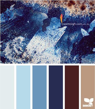 بهترین رنگ ها برای ترکیب با رنگ سورمه ای در دکوراسیون داخلی - ترکیب رنگی شماره 4
