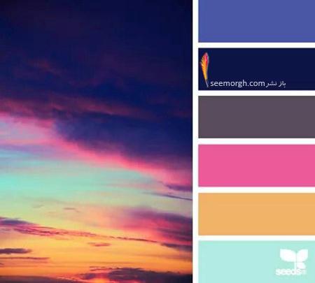 بهترین رنگ ها برای ترکیب با رنگ سورمه ای در دکوراسیون داخلی - ترکیب رنگی شماره 2