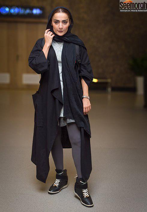 مدل مانتو بلند به سبک السا فیروزآذر
