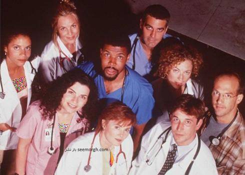 """بازيگران """"بخش اورژانس"""" در سال 1997"""