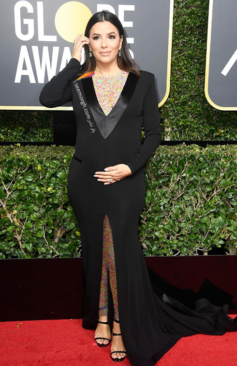 مدل لباس اوا لانگوریا Eva Longoria در مراسم گلدن گلوب 2018