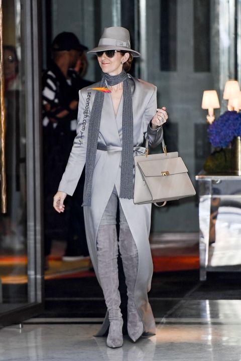مدل مانتو و بارانی به سبک سلن دیون Celine Dion - مدل شماره 8