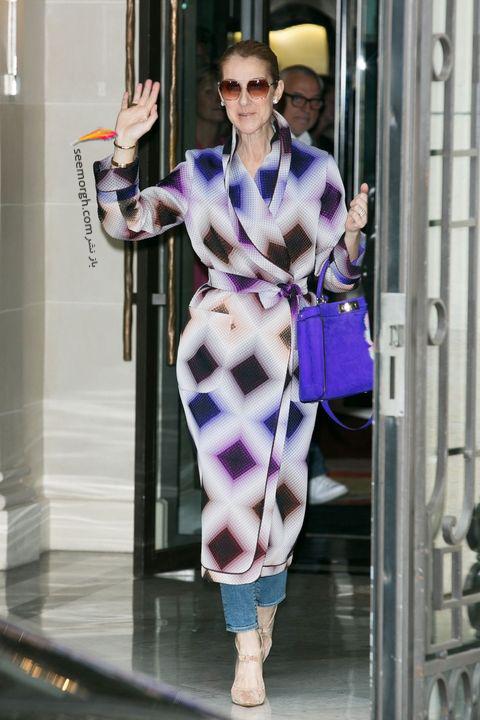 مدل مانتو و بارانی به سبک سلن دیون Celine Dion - مدل شماره 7