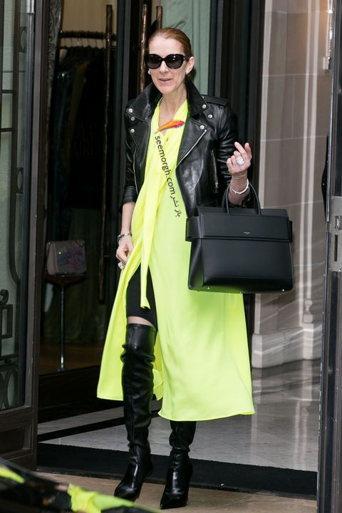 مدل مانتو و بارانی به سبک سلن دیون Celine Dion - مدل شماره 6