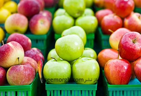 حقایقی جالب و عجیب در مورد میوه ها وسبزی ها-سیب