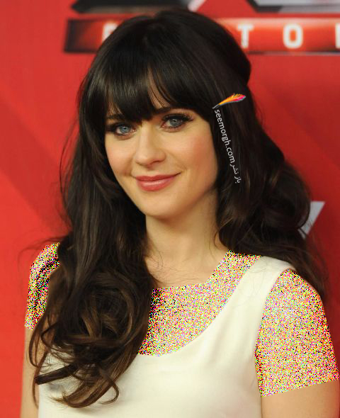مدل مو چتری zooey deschanel