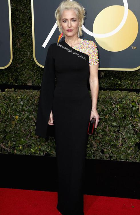 مدل لباس گیلین اندرسون Gillian Anderson در مراسم گلدن گلوب 2018