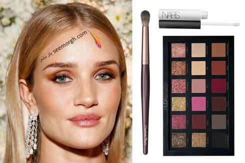 مدل آرایش چشم به سبک رزی هانتینگتون Rosie Huntington