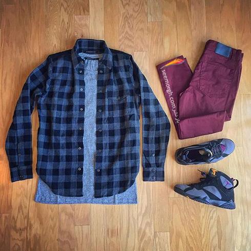ترکیب زرشکی و طوسی، بهترین ست کردن لباس مردانه برای پاییز 2017 - عکس شماره 2