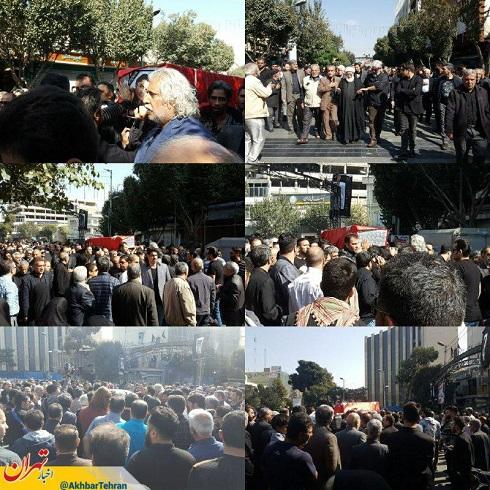 گزارش تصویری از مراسم تشییع پیکر حامد هاکان
