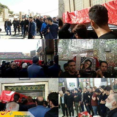 مراسم تشییع حامد هاکان