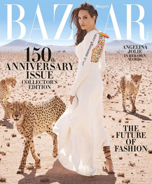عکس های آنجلینا جولی Anjelina Jolie روی مجله بازار - عکس شماره 4