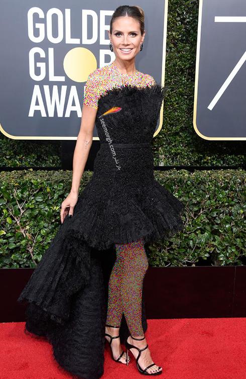 مدل لباس هايدي کلوم Heidi Klum در مراسم گلدن گلوب 2018