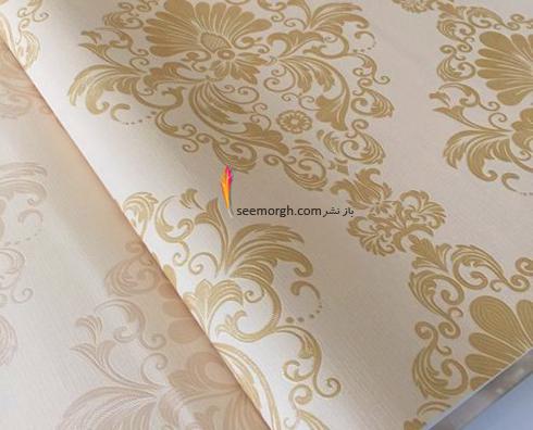 رنگ کاغذ دیواری مناسب برای ست کردن با مبلمان کلاسیک زعفرانی - عکس شماره 5