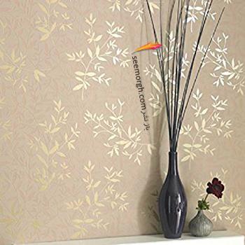 رنگ کاغذ دیواری مناسب برای ست کردن با مبلمان کلاسیک زعفرانی - عکس شماره 3