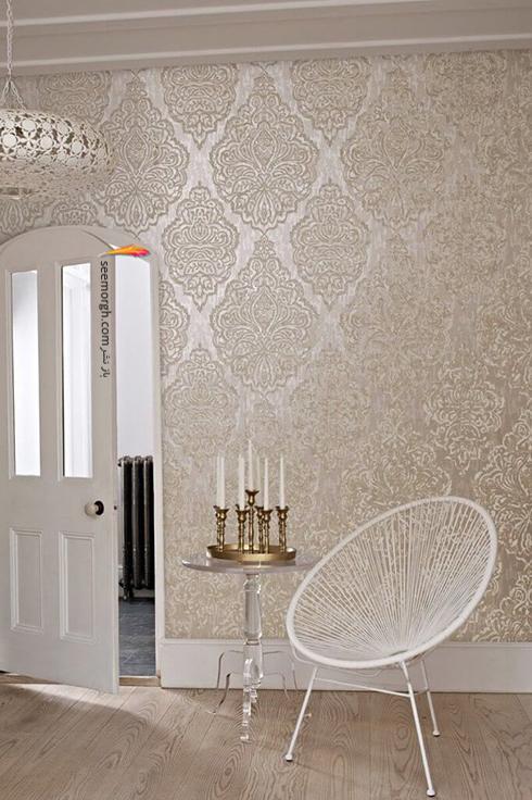 رنگ کاغذ دیواری مناسب برای ست کردن با مبلمان کلاسیک زعفرانی - عکس شماره 6