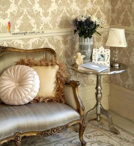 رنگ کاغذ دیواری مناسب برای ست کردن با مبلمان کلاسیک زعفرانی - عکس شماره 11