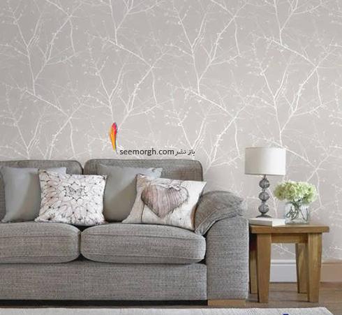 رنگ کاغذ دیواری مناسب برای ست کردن با مبلمان کلاسیک زعفرانی - عکس شماره 10
