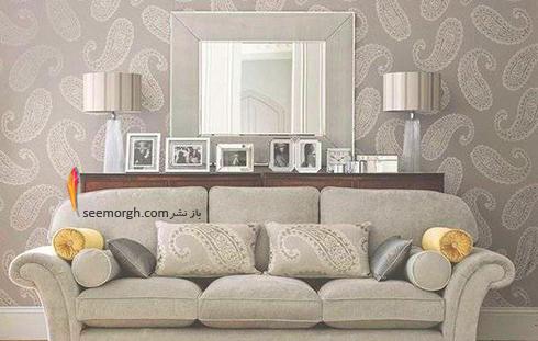 رنگ کاغذ دیواری مناسب برای ست کردن با مبلمان کلاسیک زعفرانی - عکس شماره 9
