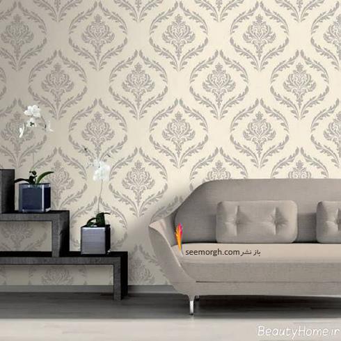 رنگ کاغذ دیواری مناسب برای ست کردن با مبلمان کلاسیک زعفرانی - عکس شماره 8