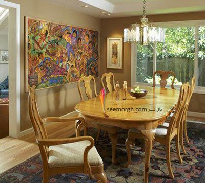 رنگ کاغذ دیواری مناسب برای ست کردن با مبلمان کلاسیک زعفرانی - عکس شماره 7