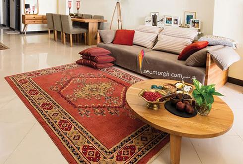 رنگ و طرح فرش مناسب برای ست کردن با مبلمان کلاسیک زعفرانی - عکس شماره 21