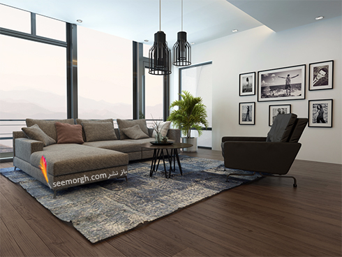 رنگ و طرح فرش مناسب برای ست کردن با مبلمان کلاسیک زعفرانی - عکس شماره 19