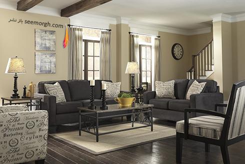 رنگ و طرح فرش مناسب برای ست کردن با مبلمان کلاسیک زعفرانی - عکس شماره 16