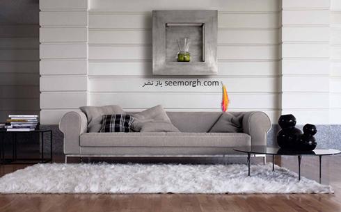 رنگ و طرح فرش مناسب برای ست کردن با مبلمان کلاسیک زعفرانی - عکس شماره 15
