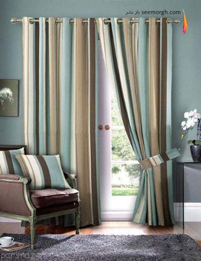 رنگ و طرح  پرده مناسب برای ست کردن با مبلمان کلاسیک زعفرانی - عکس شماره 25