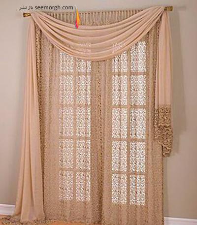رنگ و طرح  پرده مناسب برای ست کردن با مبلمان کلاسیک زعفرانی - عکس شماره 26