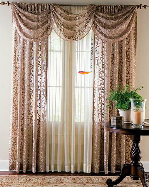 رنگ و طرح  پرده مناسب برای ست کردن با مبلمان کلاسیک زعفرانی - عکس شماره 28