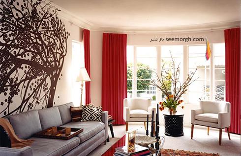 رنگ و طرح  پرده مناسب برای ست کردن با مبلمان کلاسیک زعفرانی - عکس شماره 30